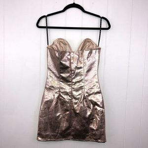 Missguided Dresses - Missguided Plunge Dress Rose Gold 2